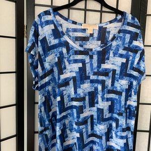 Michael Kors Blue Pattern Blouse